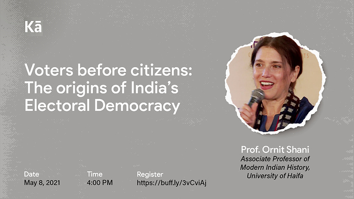 Voters Before Citizens: The Origins of India's Electoral Democracy